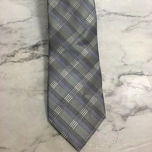 Calvin Klein Blue Grey Tie